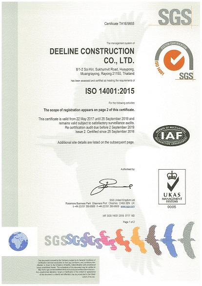 Cetificate ISO 14001 2015 Page 1-1
