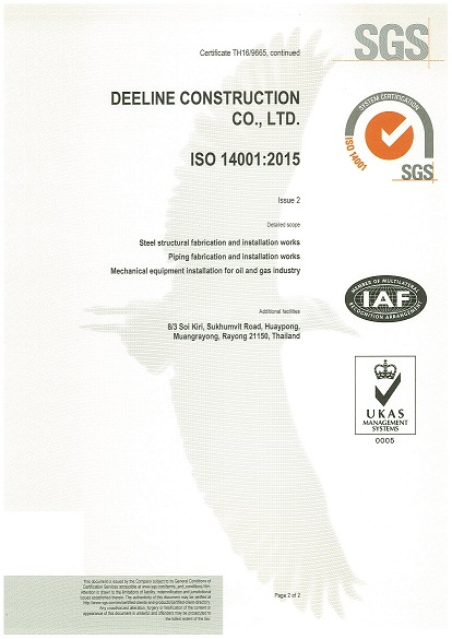 Cetificate ISO 14001 2015 Page 2-2